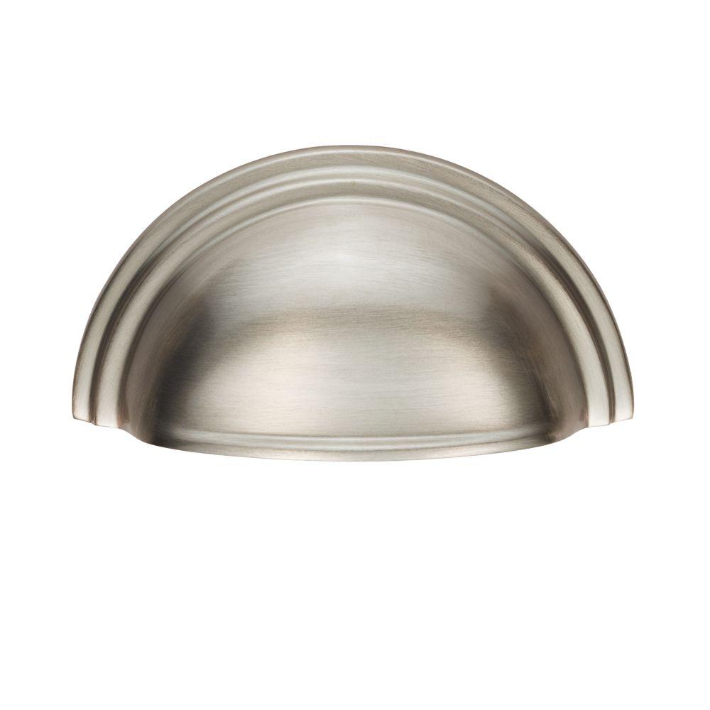 Carlisle Brass Victorian Cupboard Cup Pull Handle 92mm Satin Nickel