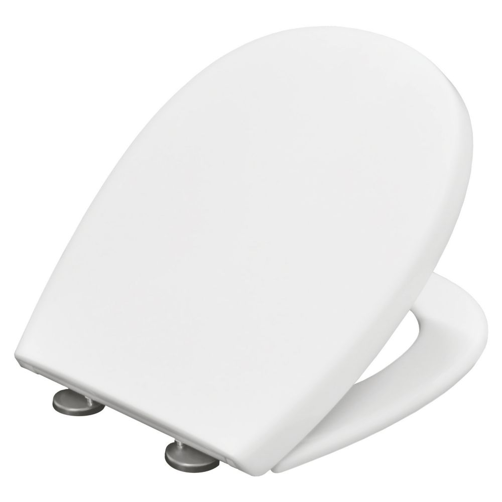 Carrara & Matta Silence Soft-Close with Quick-Release Toilet Seat Thermoset Plastic White