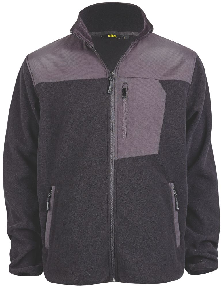 "Site Teak Fleece Jacket Black X Large 46"" Chest"