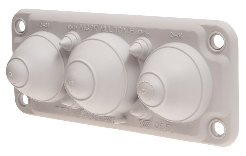 Schneider Electric 7-Entrance Cable Gland Plate 214 x 88mm