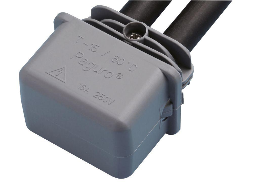 Hylec  2-Entry IP68 Gel In-Line Connector Grey
