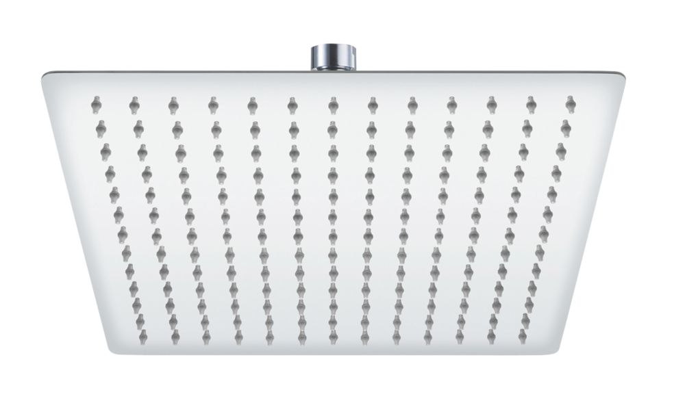 Cooke & Lewis Adjustable Ultra-Slim Square Shower Head Chrome 300mm