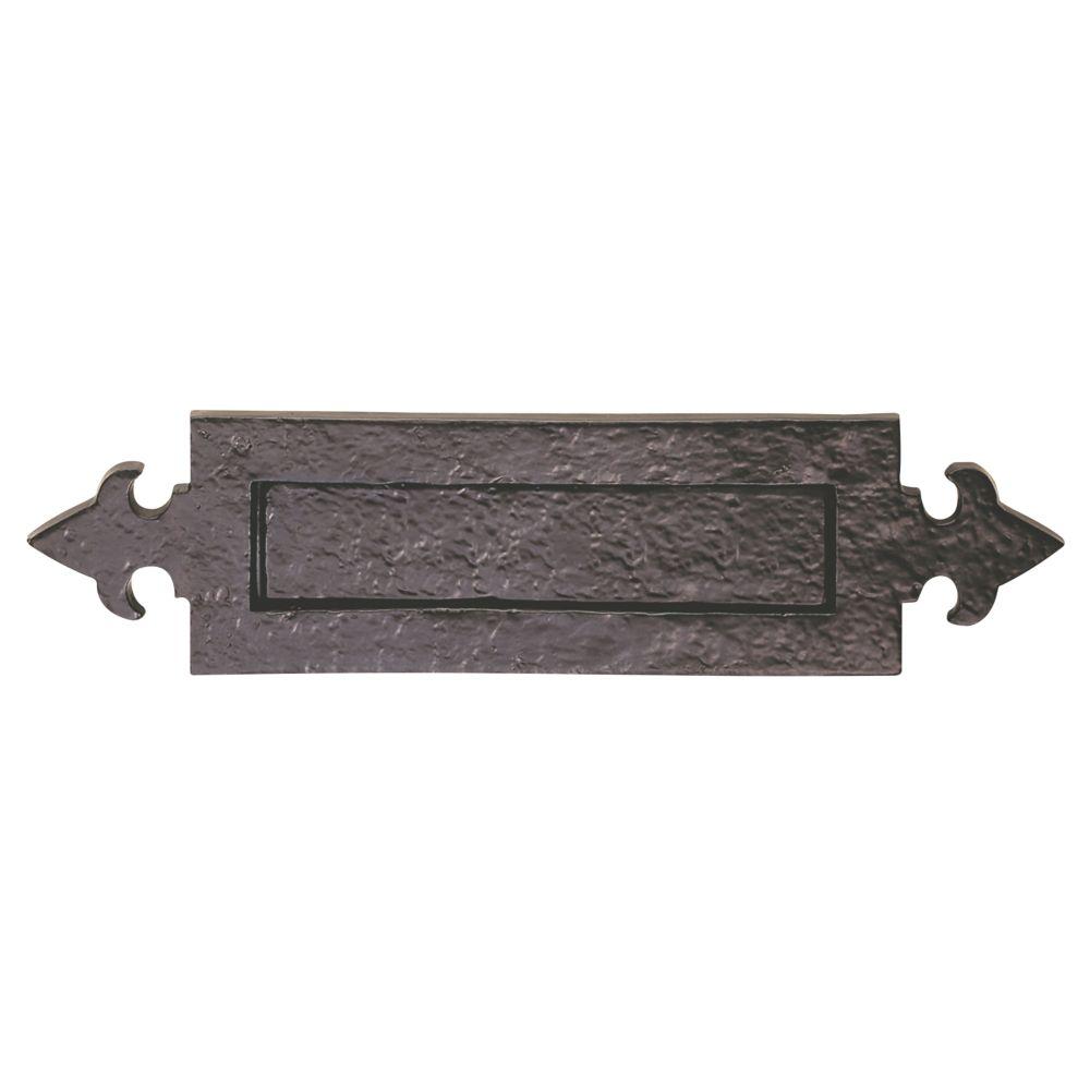 Carlisle Brass Fleur-de-Lys Letter Plate Antique Black 365 x 90mm