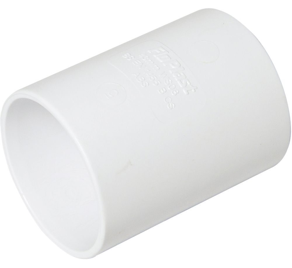 FloPlast  Straight Couplers 40 x 40mm White 5 Pack