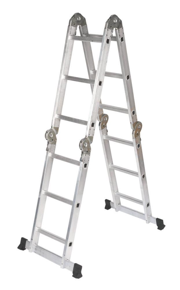 4-Section Aluminium Multipurpose Ladder  3.34m