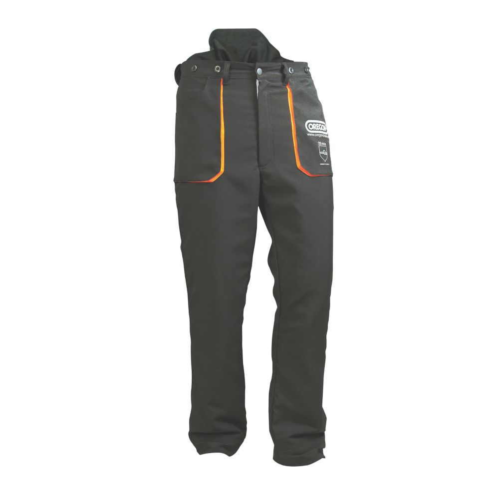 "Oregon Yukon  Chainsaw Trousers Black / Orange 35-37"" (88-93cm) Waist  30"" (76cm) Leg"