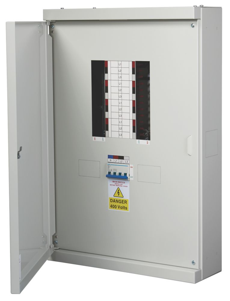 Chint Nxdb 8-Way 125A TP & N Meter Ready 3-Phase Distribution Board