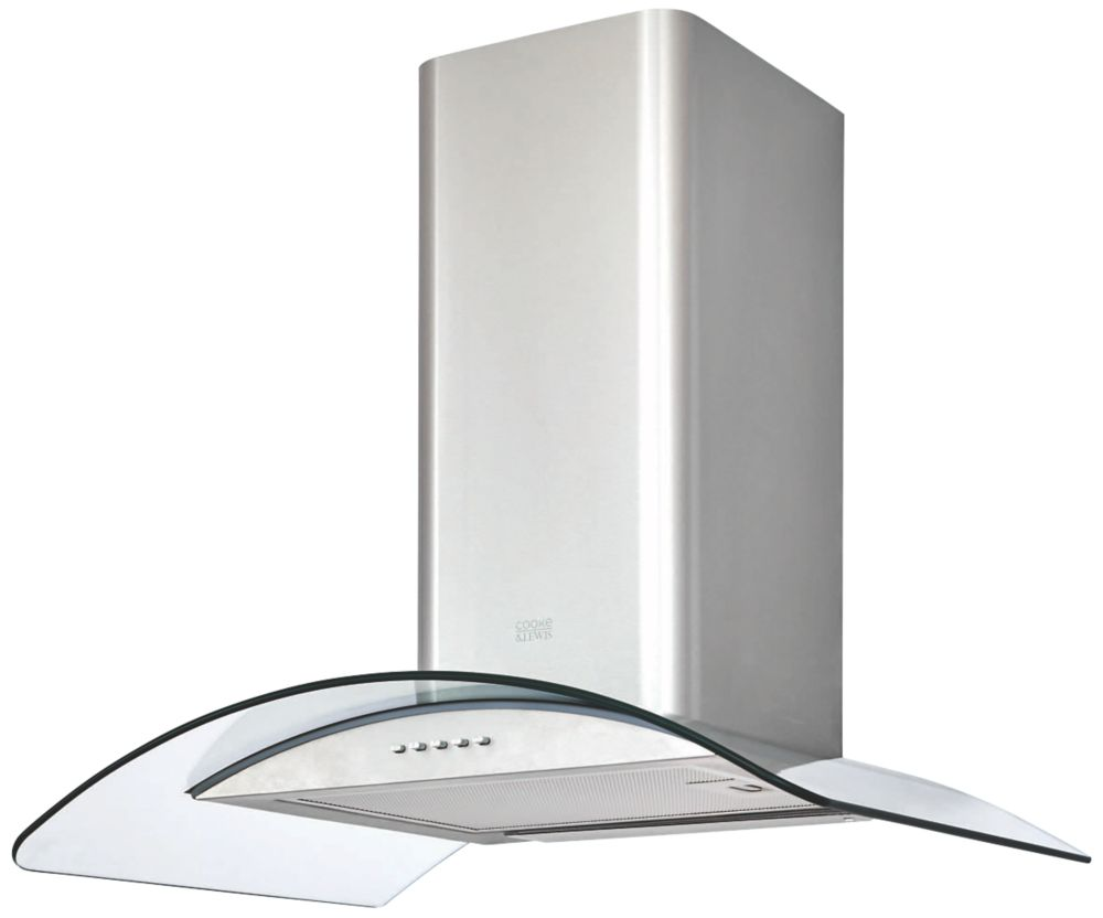 Cooke & Lewis CLCGS60 Curved Glass Hood Stainless Steel 600mm