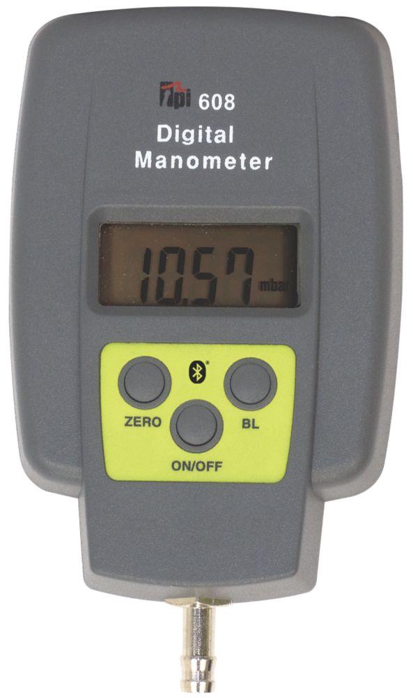 TPI 608BT Bluetooth Single Input Digital Manometer