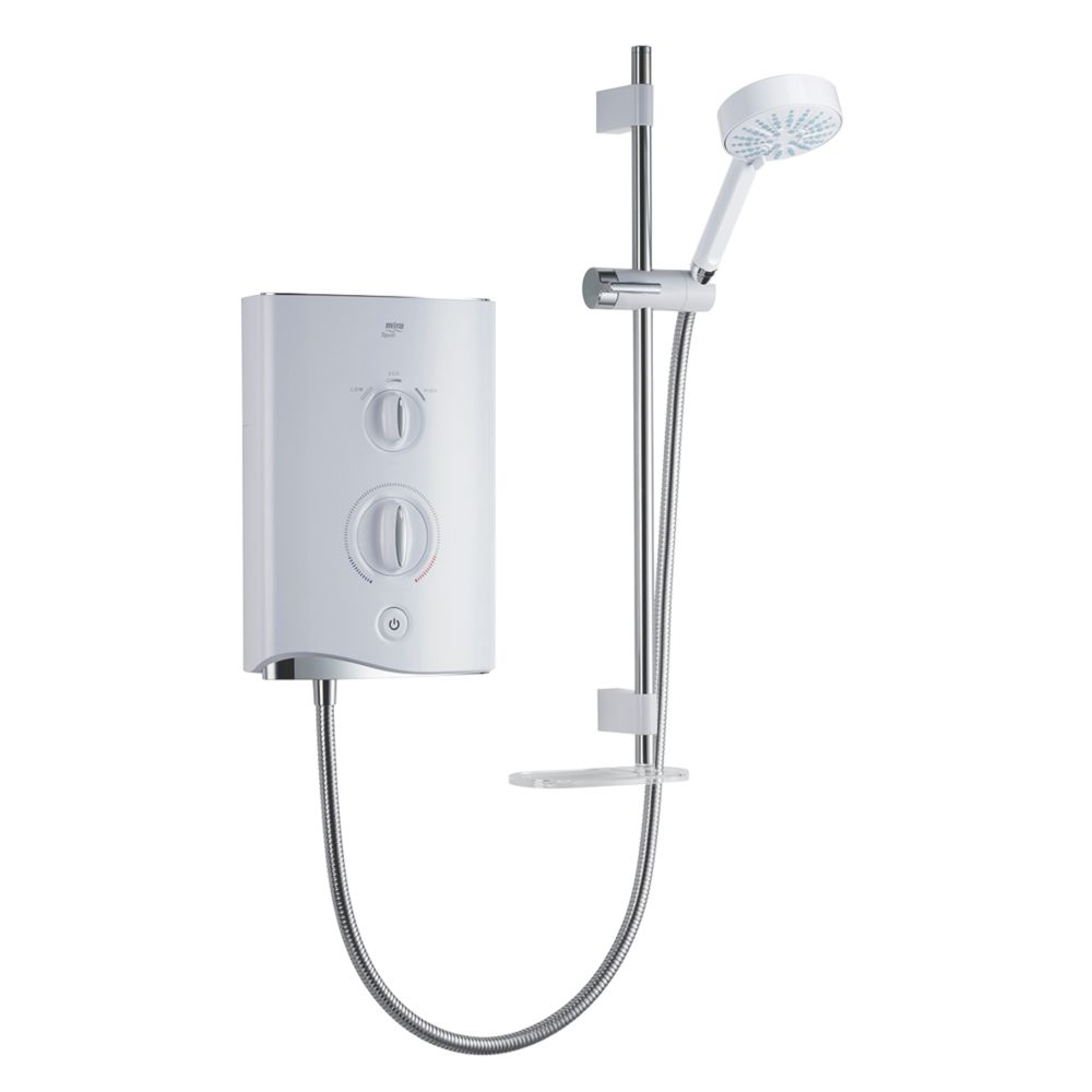 Mira Sport White / Chrome 9kW  Manual Electric Shower