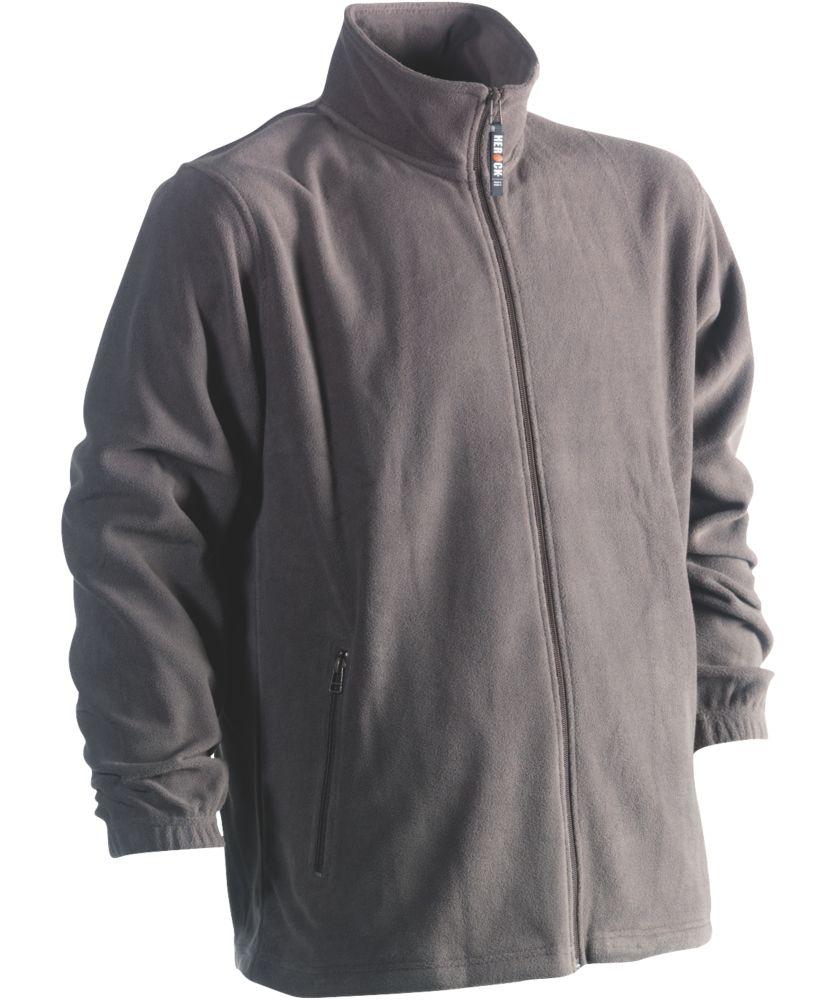"""Herock Darius Fleece Jacket Grey Large 47"""" Chest"""