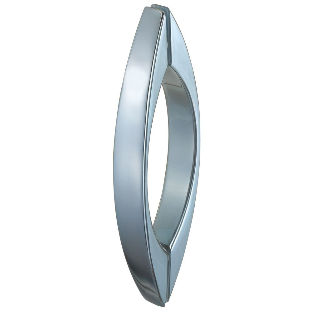 Aqualux  Curved Shower Door Bar Chrome 130mm Single