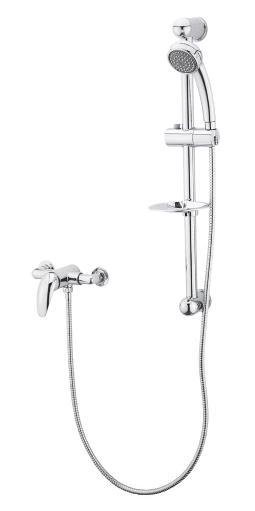 KEONI Rear-Fed Concealed/Exposed Chrome  Shower