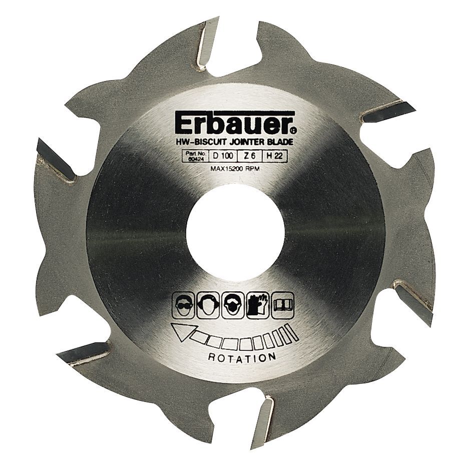 Erbauer 12-Tooth Biscuit Jointing Blade 100 x 22mm