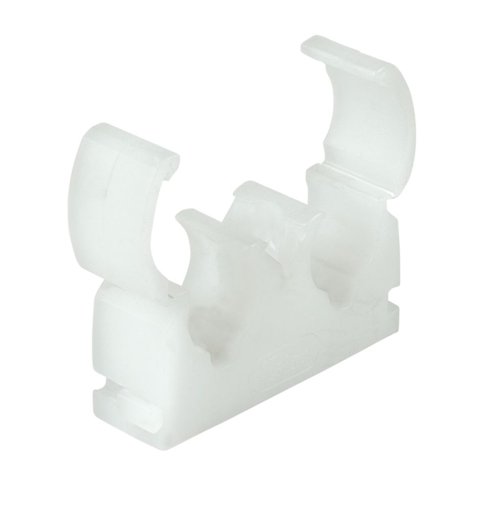 Talon 22mm Double Hinge Clip White 50 Pack