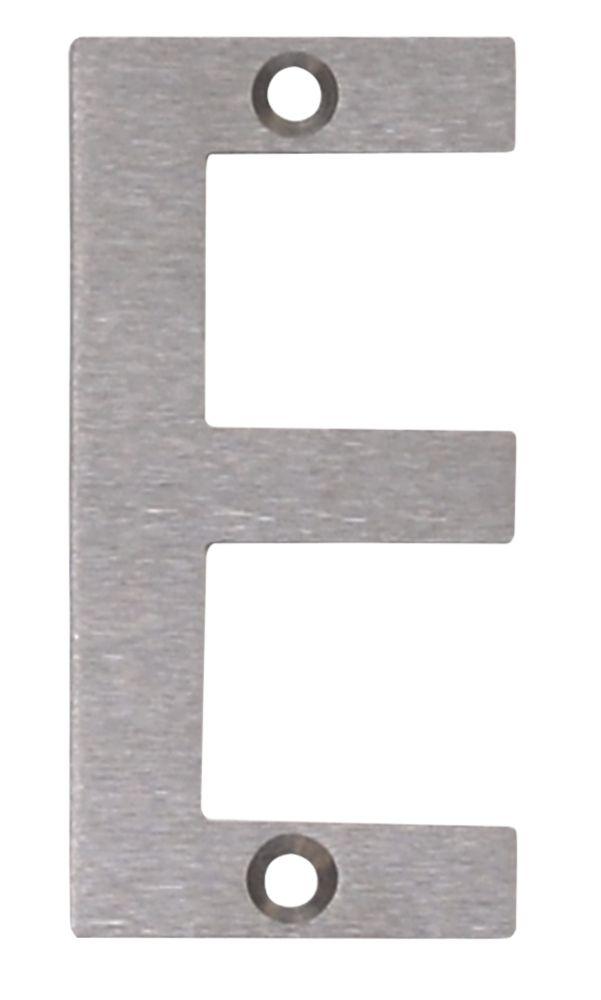 Fab & Fix Door Letter E Satin Stainless Steel 78mm
