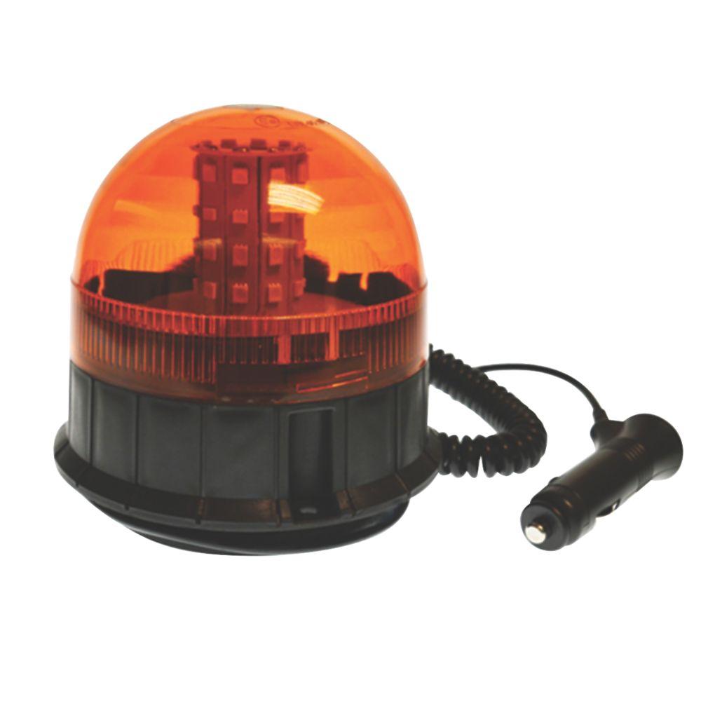 Maypole Amber Magnetic LED Beacon 40 x 3W 200mm