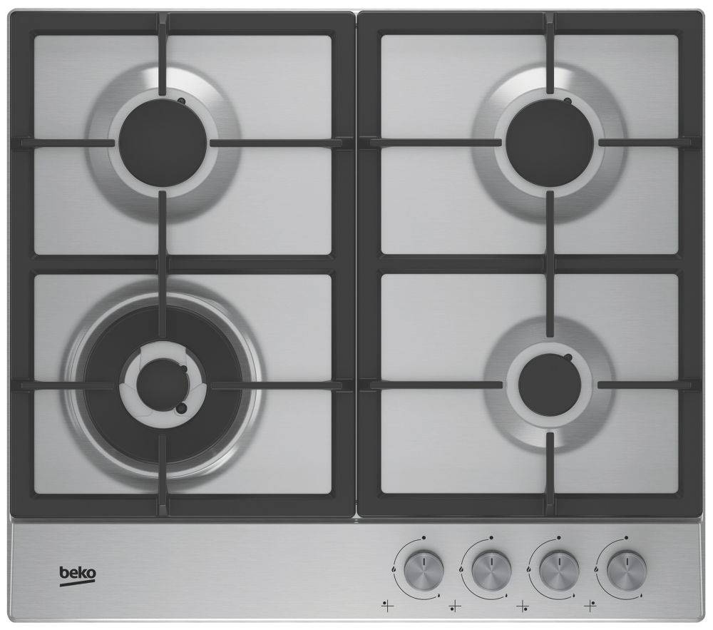 Beko HQAW 64225 SX Gas Hob Stainless Steel 46 x 580mm