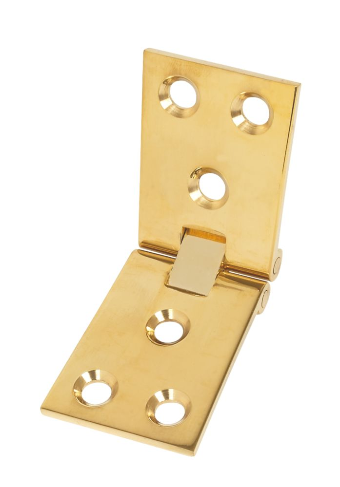 Polished Brass Counter Flap Hinge 38 x 102mm 2 Pack