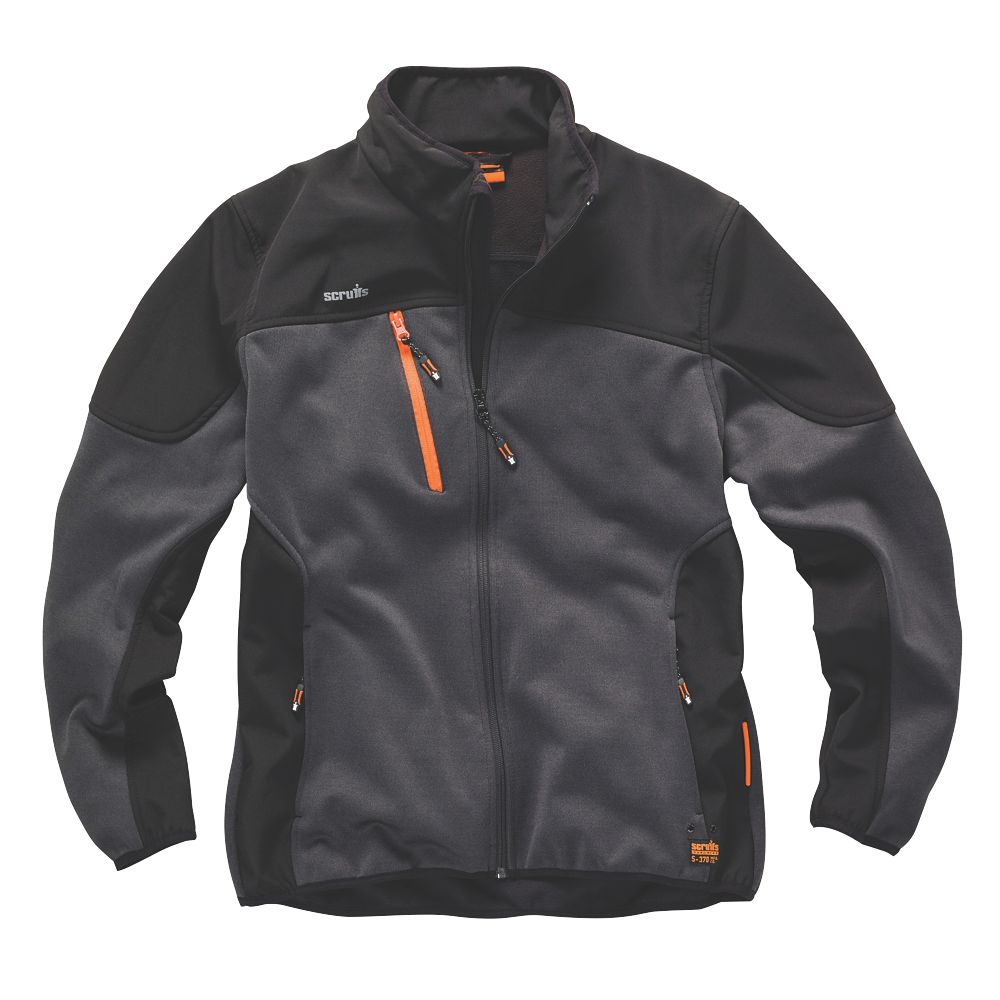 """Scruffs Trade Tech Softshell Jacket  Charcoal  Small 38/40"""" Chest"""