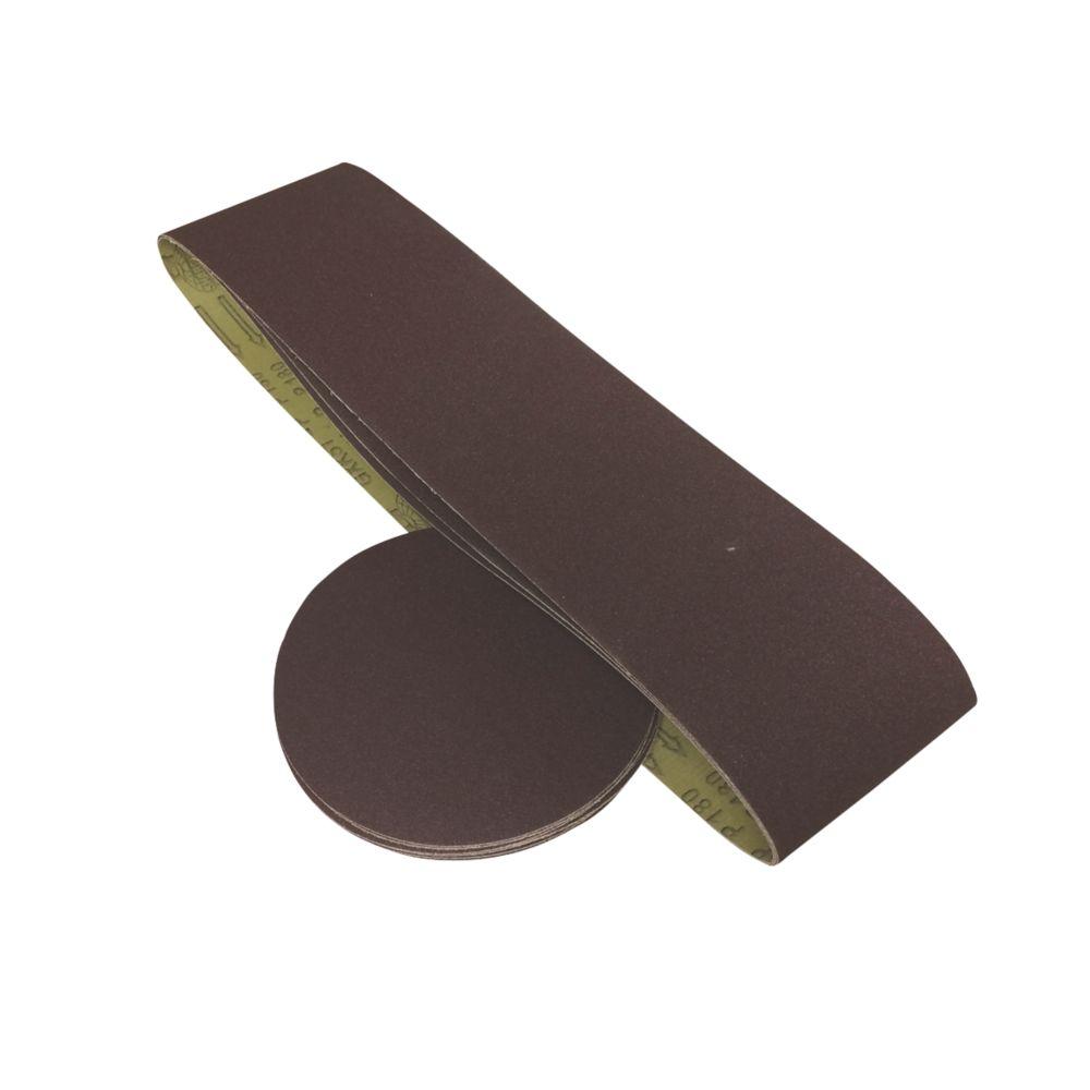 Scheppach BTS800 Sanding Discs & Belts Set 12 Pieces