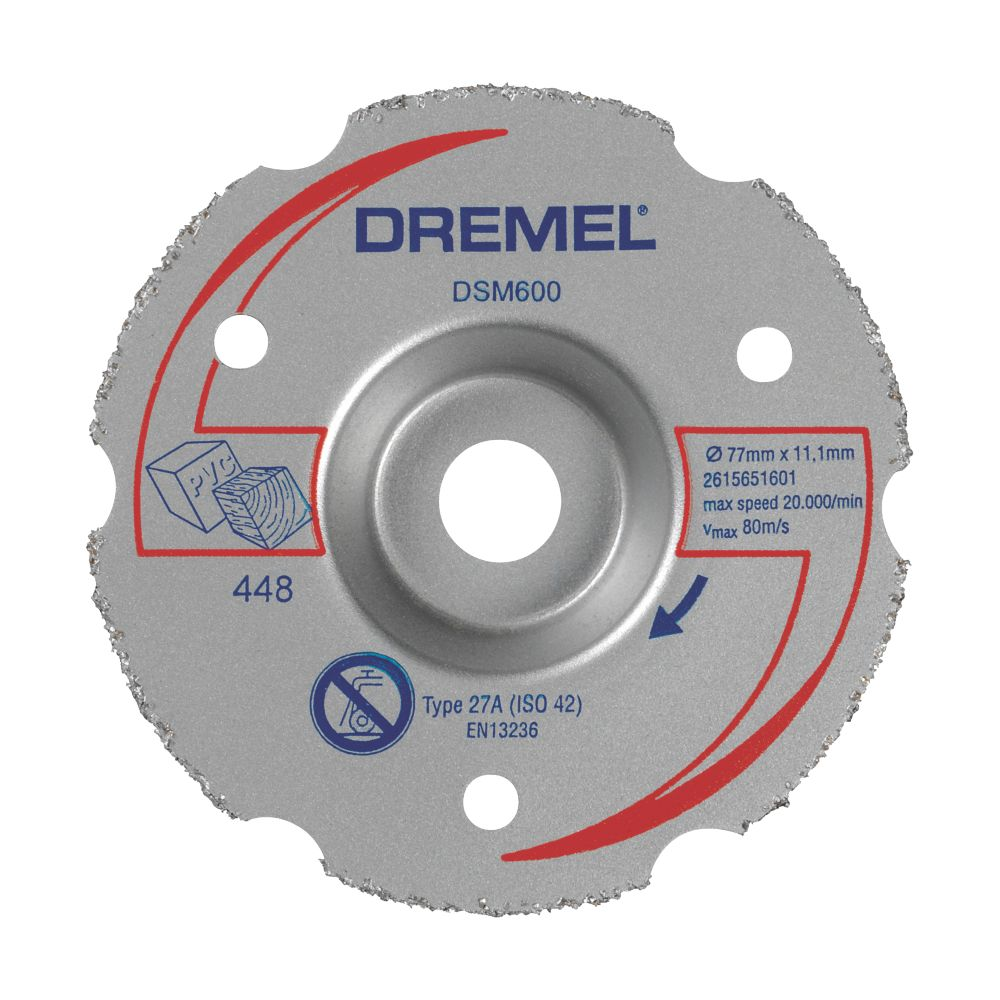 "Dremel Saw-Max Wood Multipurpose Flush Cutting Wheel 2"" (55mm) x 5 x 11mm"