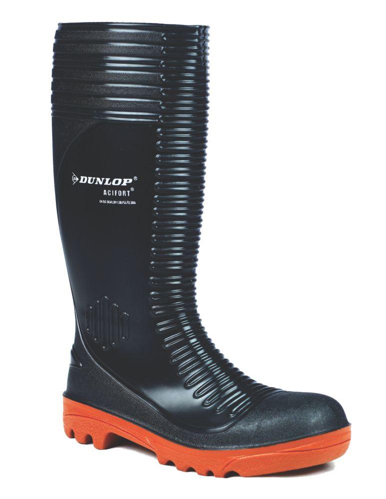 Dunlop Acifort A252931   Safety Wellies Black Size 10