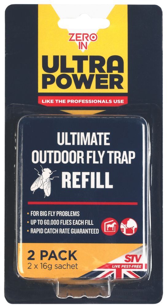 Zero In Ultra Power Flying Insect Control Refills 16g 2 Pack