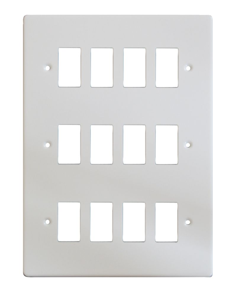 Varilight XDQPG12 12-Gang PowerGrid Faceplate White