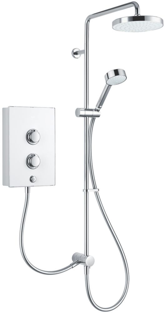 Mira Decor Dual White / Chrome 10.8kW  Manual Electric Shower