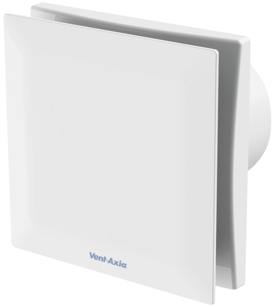 Vent-Axia VASF100HTV 7.5W Bathroom Extractor Fan with Humidistat & Timer White  240V