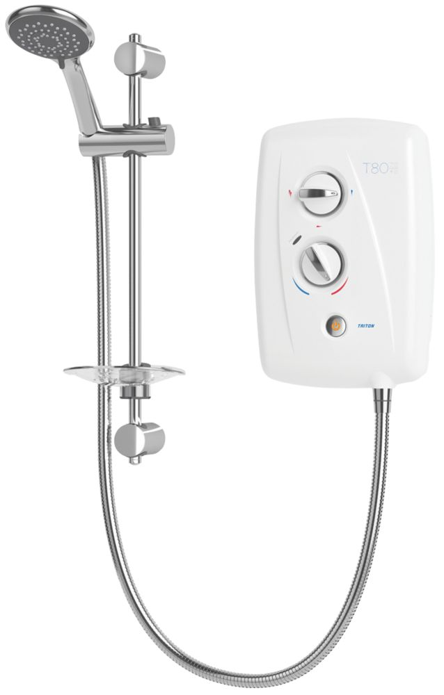 Triton T80 Easi-Fit + White / Chrome 7.5kW  Electric Shower
