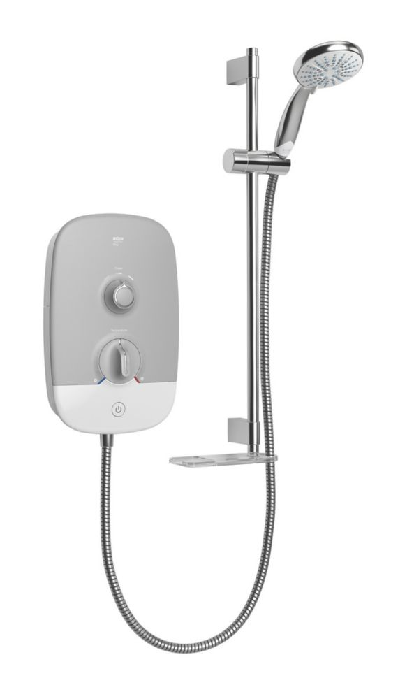 Mira Play White / Grey 10.8kW  Electric Shower