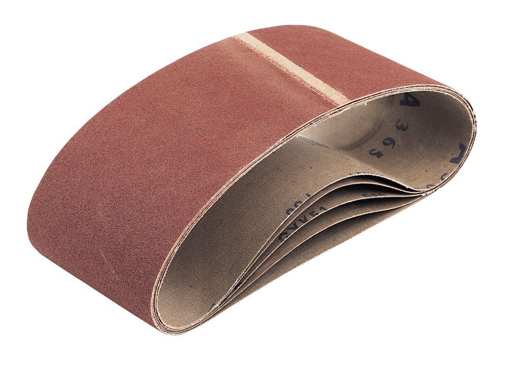Cloth Sanding Belts Unpunched 610 x 100mm 40 Grit 5 Pack
