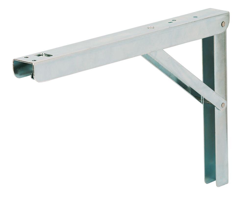 Adjustable Folding Bracket Silver 300 x 200mm 2 Pack