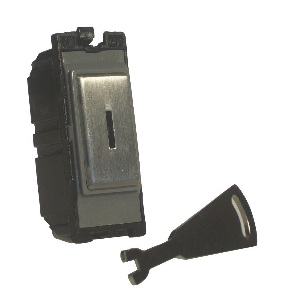 Varilight Z2DG201DKS 20A Double Pole Key Switch Metal