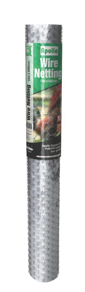 Apollo 25mm Galvanised Wire Netting 0.6 x 25m
