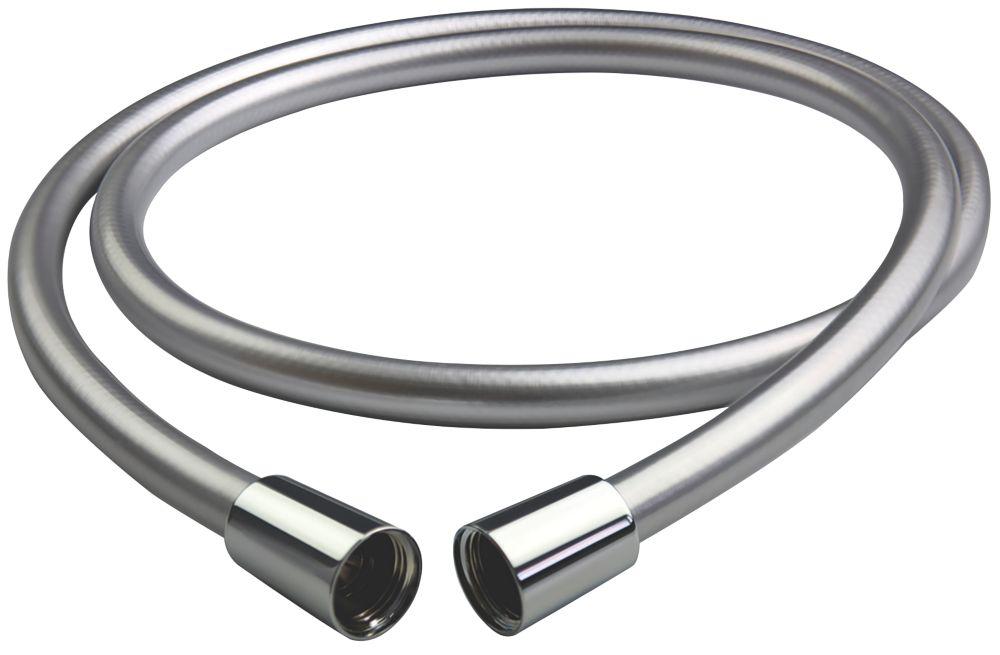 Triton Shower Anti-Twist Hose Chrome 6mm x 1.5m