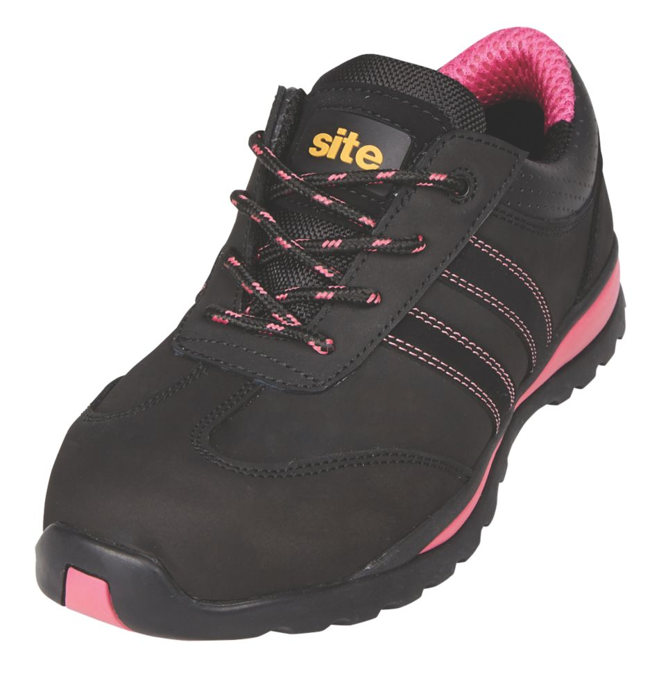 Site Dorain  Ladies Safety Trainers Black Size 3