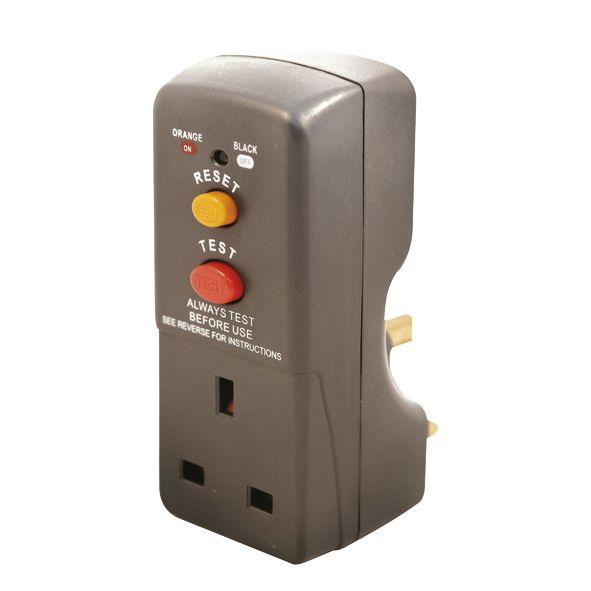 Masterplug 13A Fused Plug-Through Active RCD Adaptor