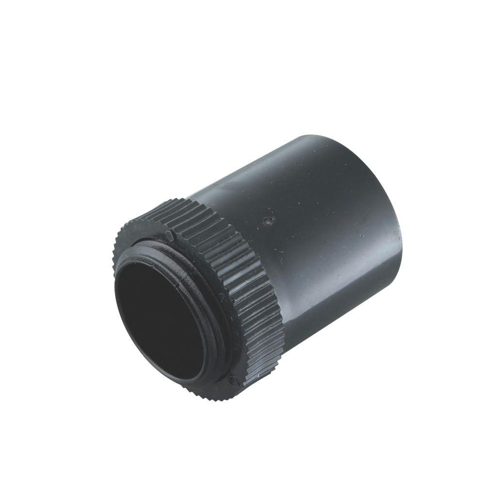 Tower Male Adaptors 20mm Black Pack of 2