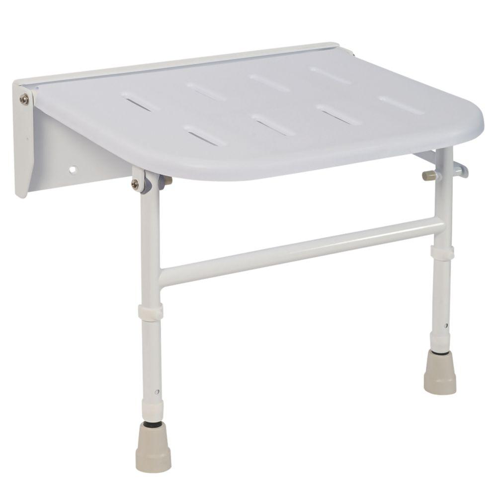 Nymas Wall-Mounted Shower Seat White