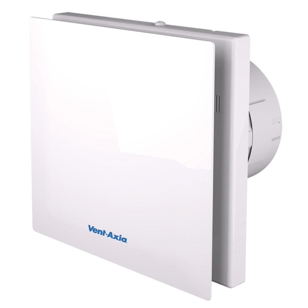 Vent-Axia VASF100T 4.3/6.8W Bathroom Extractor Fan with Timer White 240V