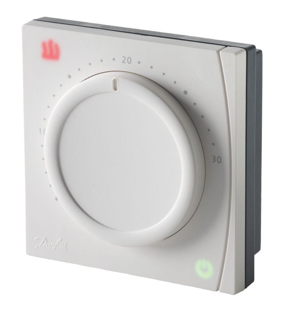 Danfoss RET1000MS Mains-Powered Dial Room Thermostat 230V White