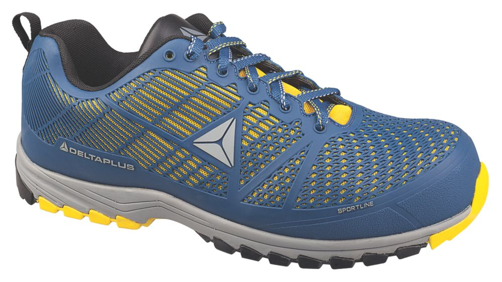 Delta Plus Sportline   Safety Trainers Blue / Yellow Size 11