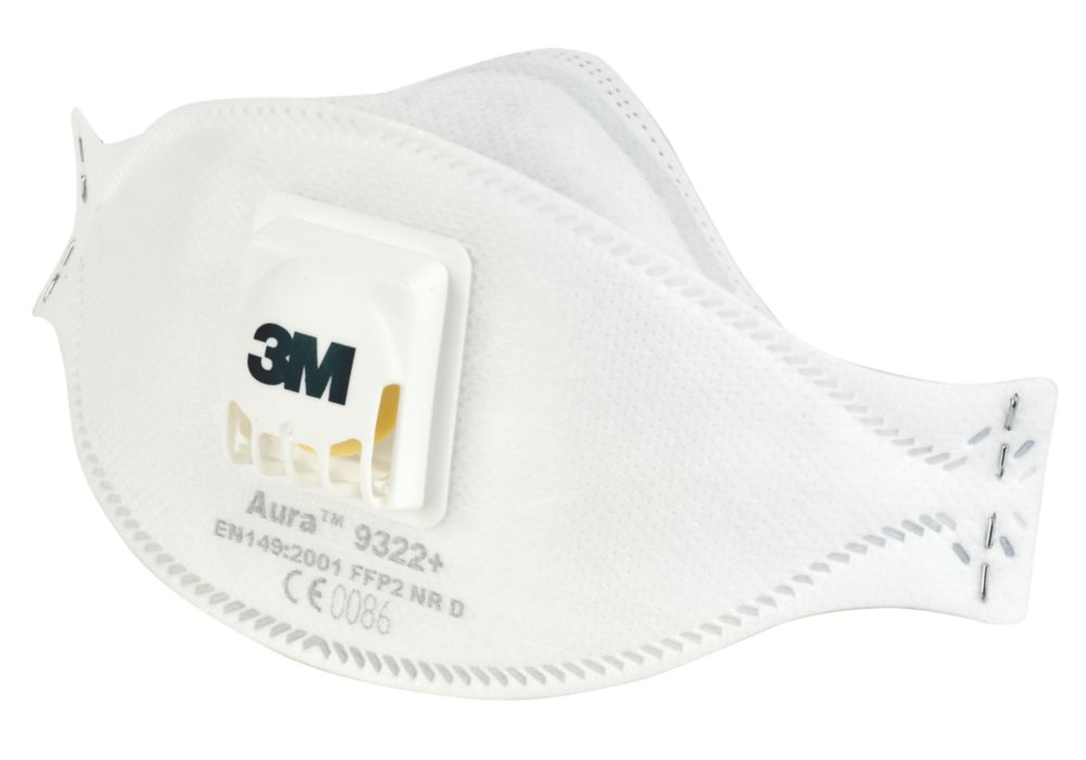 3M Aura 9322 Disposable Valved Dust/Mist Respirator P2