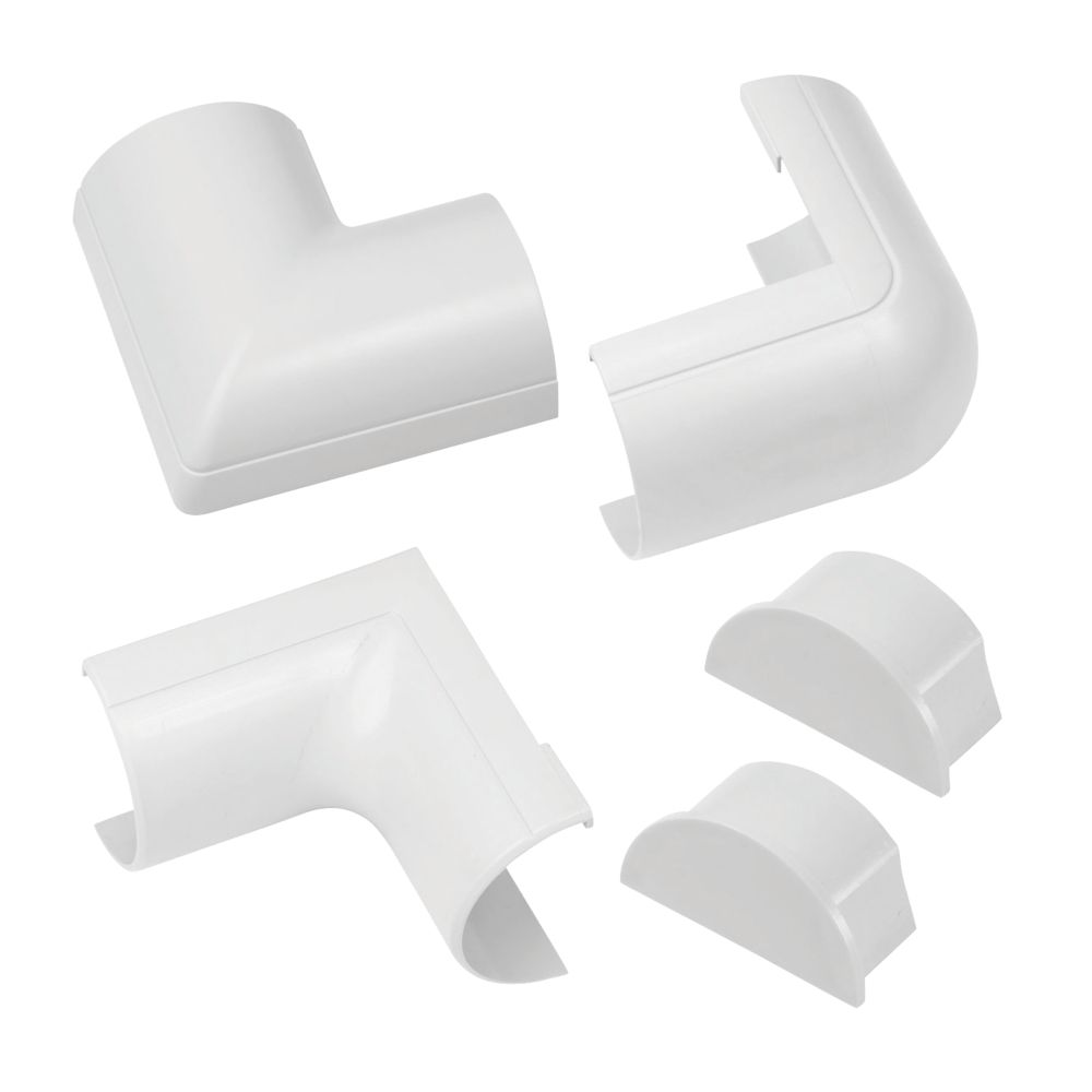 D-Line ABS Plastic White Trunking Accessories 5 Pieces