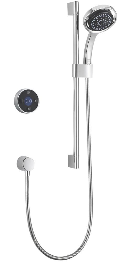 Mira Platinum HP/Combi Rear-Fed Single Outlet Black / Chrome Thermostatic Wireless Digital Mixer Shower