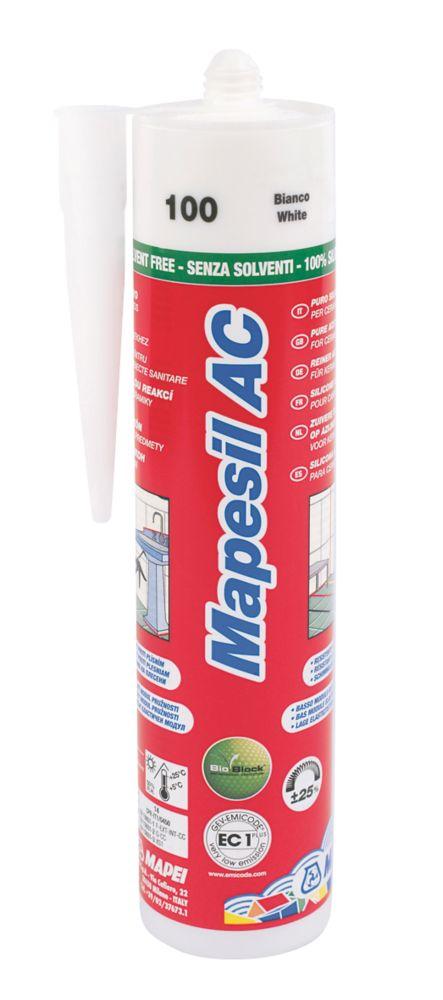 Mapei Mapesil Solvent-Free Silicone Sealant White 310ml