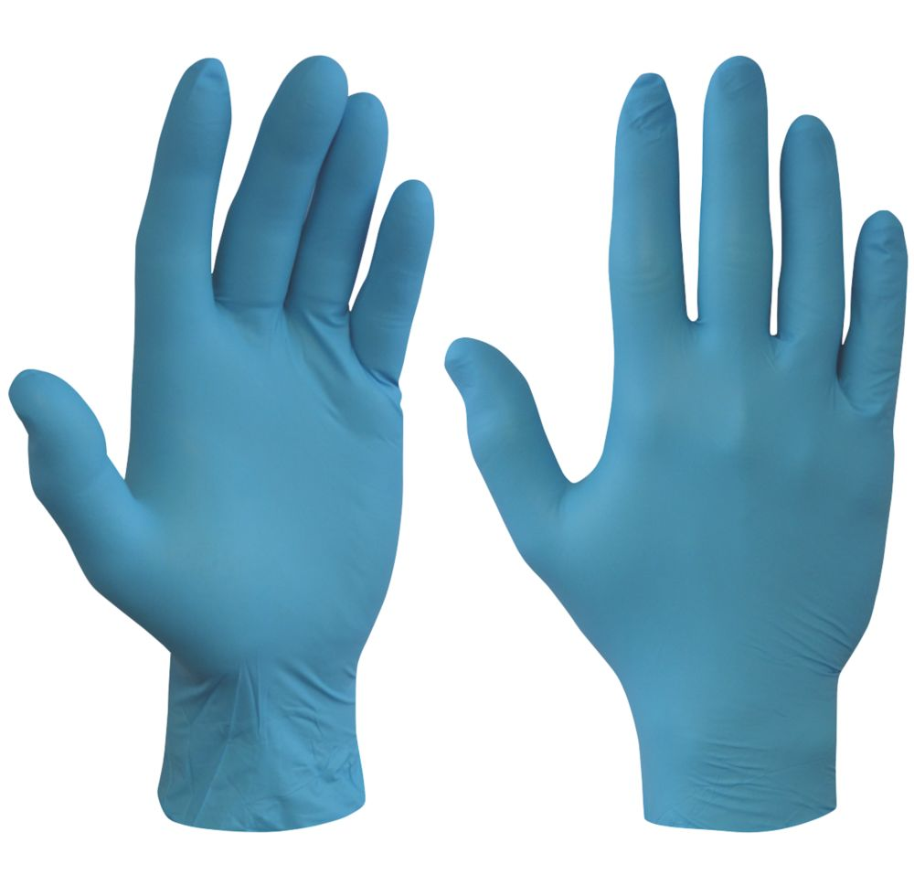 Shield  Nitrile Powder-Free Disposable Gloves Blue Large 100 Pack